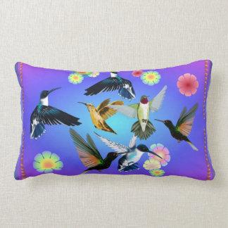 For The Love Of Hummingbirds Lumbar Pillow