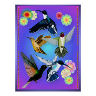 For The Love Of Hummingbirds Print
