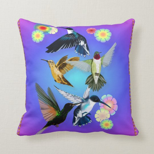 For The Love Of Hummingbirds Throw Pillow