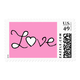 FOR THE LOVE OF IT PINK POSTAGE STAMPS