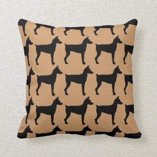 For the Love of Miniature Pinschers Throw Pillow
