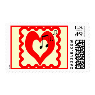 For the Love of Music Postage