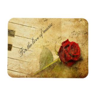 For The Love Of Music Rectangular Photo Magnet