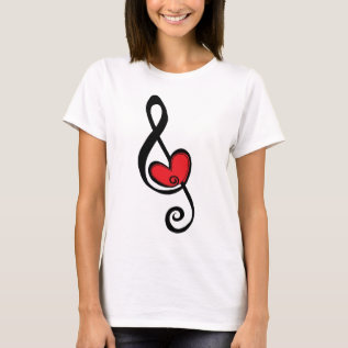 For The Love Of Music T-shirt at Zazzle