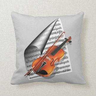 For the love of music.. throw pillow
