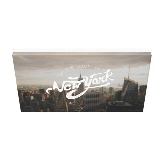 For the love of New York | Typographic Poster Canvas Print