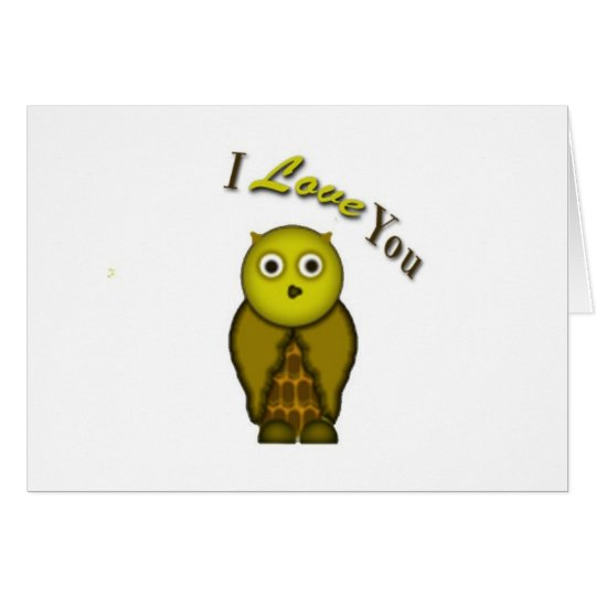 For the Love of Owl Card