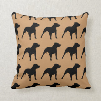 For the Love of Pitbulls Throw Pillow