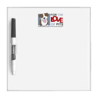 For the Love of Pits' products Dry Erase Board