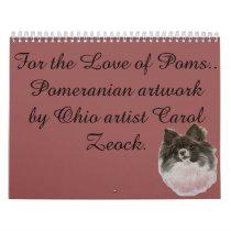 For the Love of Poms Calendar by Carol Zeock