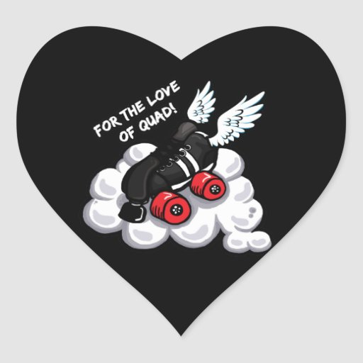 For the love of quad! heart sticker