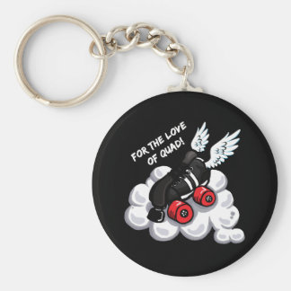 For the love of quad! keychain