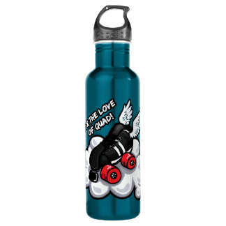 For the love of quad! stainless steel water bottle