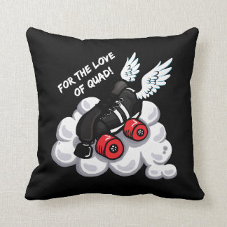 For the love of quad! throw pillow