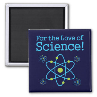 For The Love Of Science Atom 2 Inch Square Magnet
