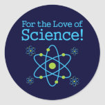 For The Love Of Science Atom Classic Round Sticker