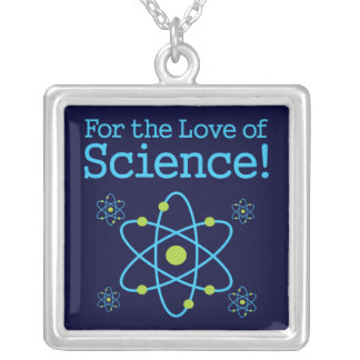 For The Love Of Science Atom Square Pendant Necklace