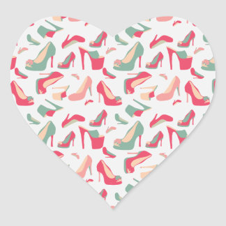 For the Love Of Shoes Heart Sticker