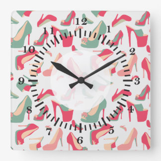 For the Love Of Shoes Square Wall Clock