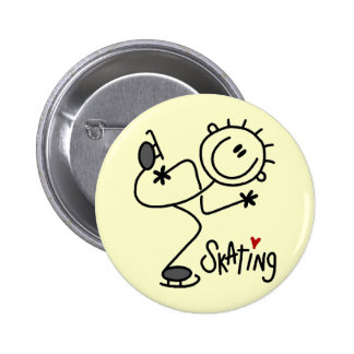 For the Love of Skating Tshirts and Gifts 2 Inch Round Button
