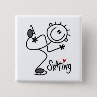 For the Love of Skating Tshirts and Gifts Pinback Button