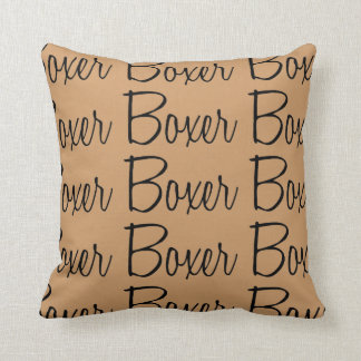 For the Love of the Boxer Dogs Throw Pillow