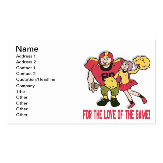 For The Love Of The Game Double-Sided Standard Business Cards (Pack Of 100)