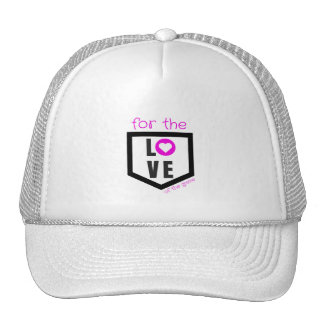 for the love of the game softball trucker hat