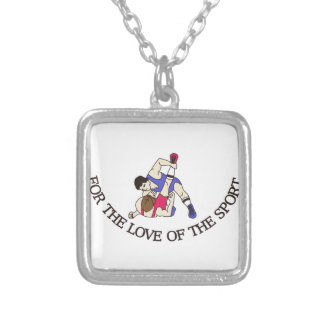 For the Love of the Sport Silver Plated Necklace