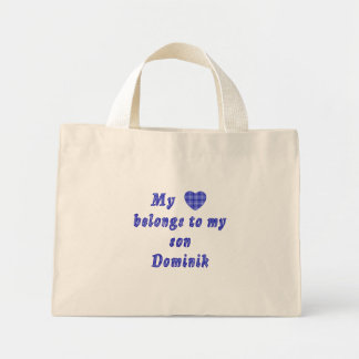 For the luv of my cousin Dominik and Angie Mini Tote Bag