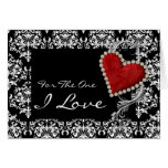 """""""For the one I love"""" romantic valentine birthday Greeting Card"""