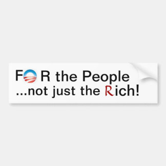 For the People Car Bumper Sticker