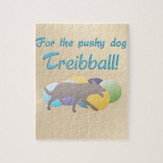 For the Pushy Dog - Treibball Jigsaw Puzzle