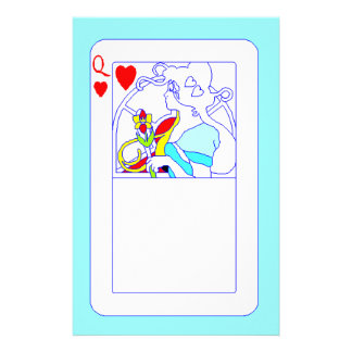 For The Queen Of Hearts Personal Stationery Play