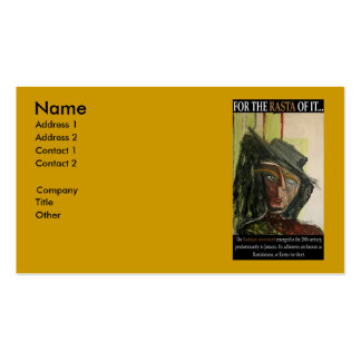 FOR THE RASTA OF IT Double-Sided STANDARD BUSINESS CARDS (Pack OF 100)