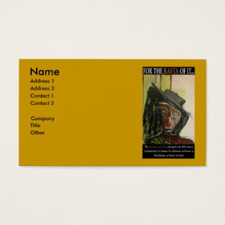 FOR THE RASTA OF IT BUSINESS CARD