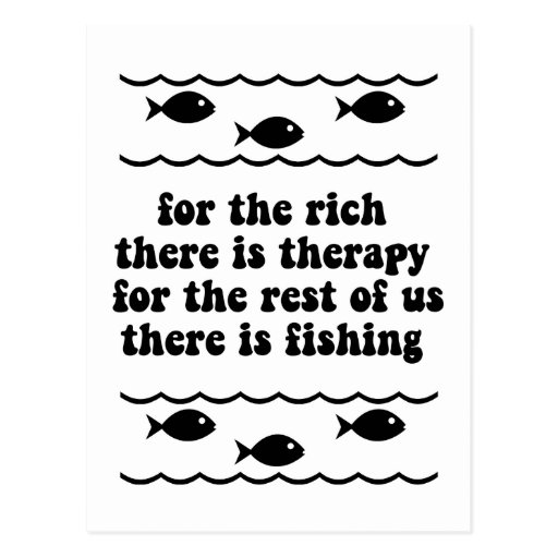 For the rich there is therapy postcard