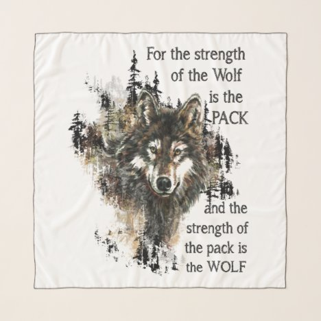 For the strength of the Wolf is the Pack Scarf