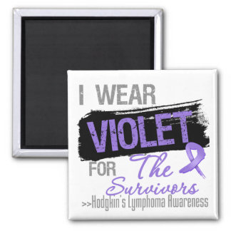 For The Survivors - Hodgkins Lymphoma Ribbon 2 Inch Square Magnet