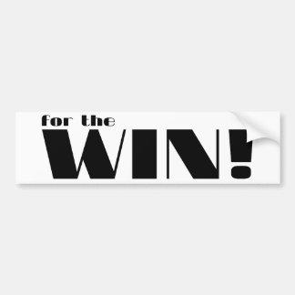 For The Win! 2 Car Bumper Sticker