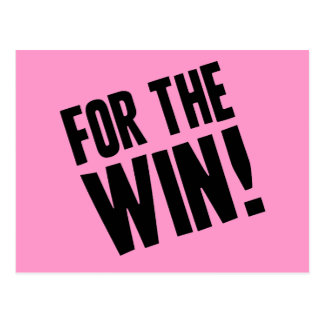 For The Win Postcard