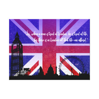 For there is in London all that life can afford Canvas Print