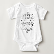 For This Child I Have Prayed Scripture Quote Baby Bodysuit