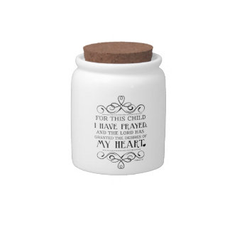 For This Child I Have Prayed Scripture Quote Candy Dish