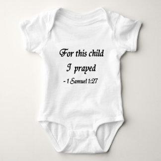 For This Child I Prayed, 1 Samuel 1:27 Baby Bodysuit