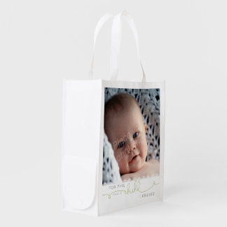 For this Child I Prayed - 1 Samuel 1:27 Reusable Grocery Bags