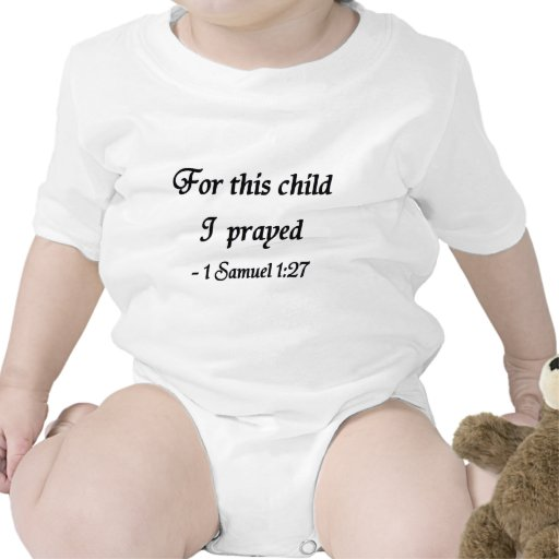 For This Child I Prayed, 1 Samuel 1:27 Rompers