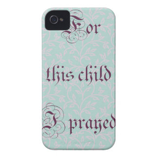 For this child I prayed- green gray iPhone 4 Case