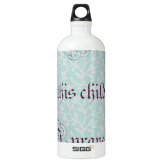 For this child I prayed- green gray SIGG Traveler 1.0L Water Bottle