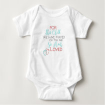 For This Child We Have Prayed Bodysuit